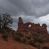 Turret Arch, clearing storm