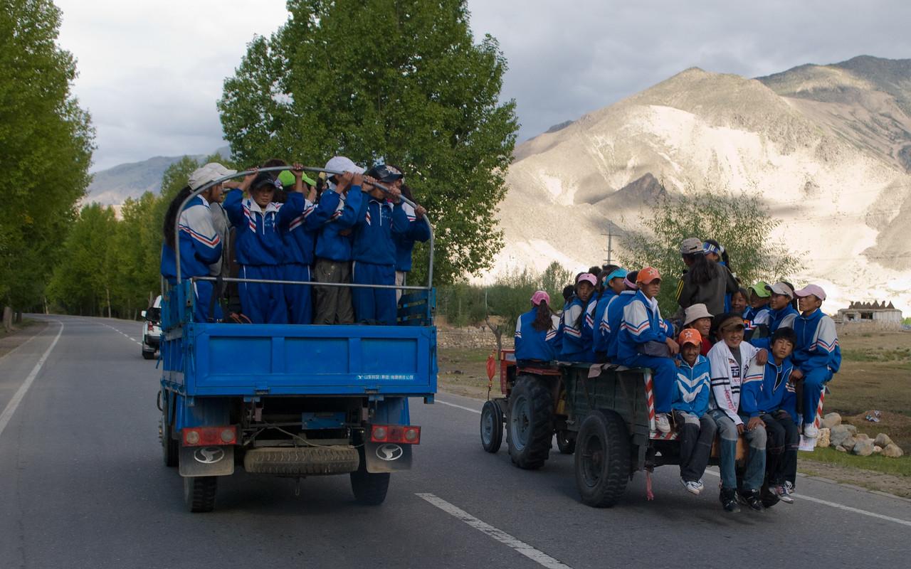 Tibetan school bus