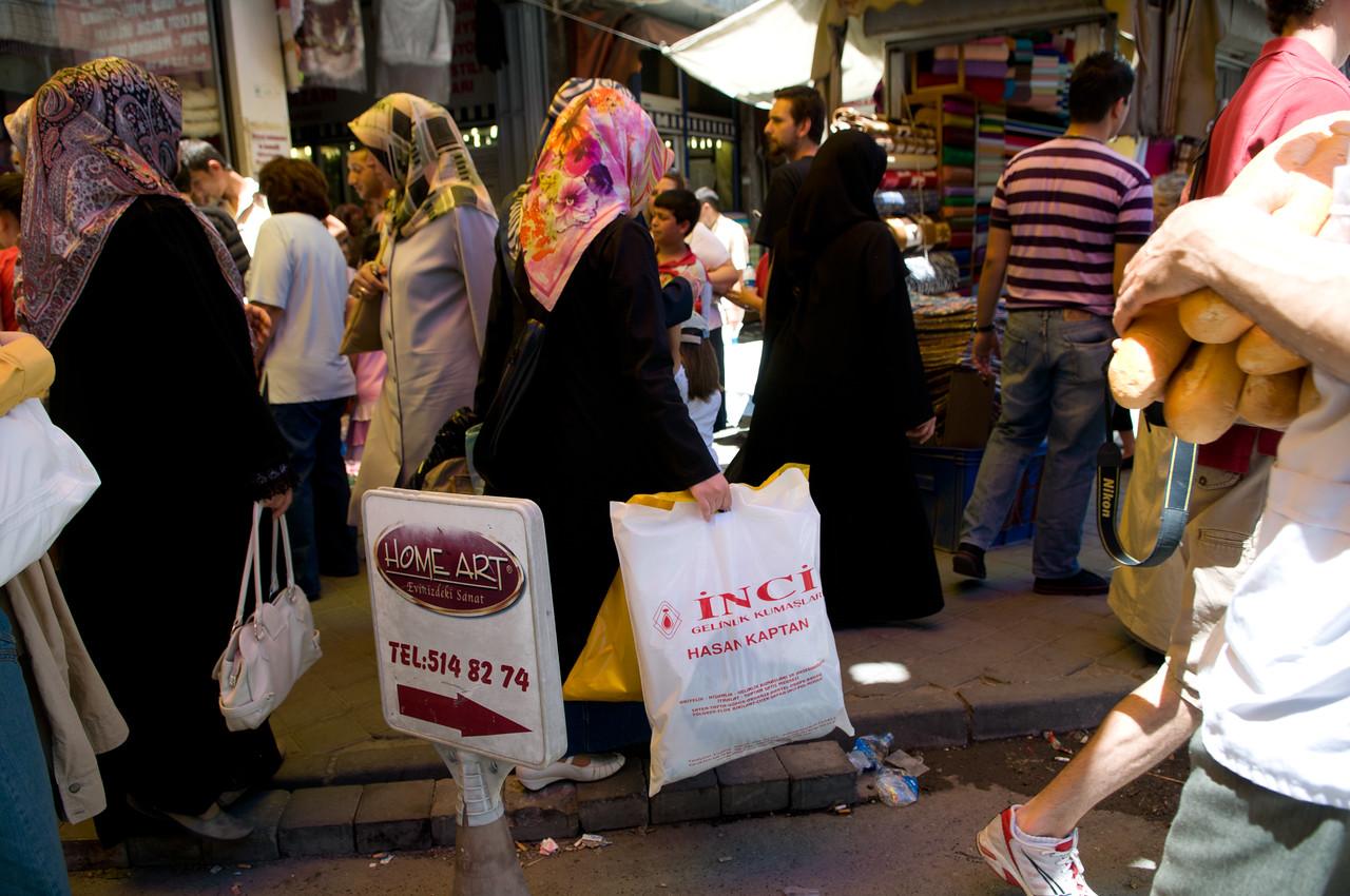 In the local bazaar
