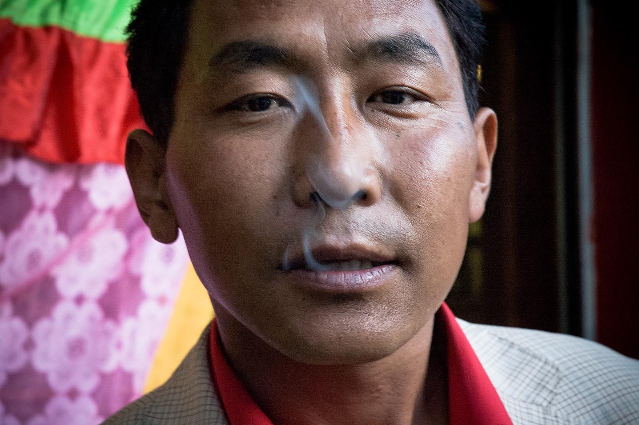 Restaurant owner, Shigatse, Tibet by Josephine Jardine