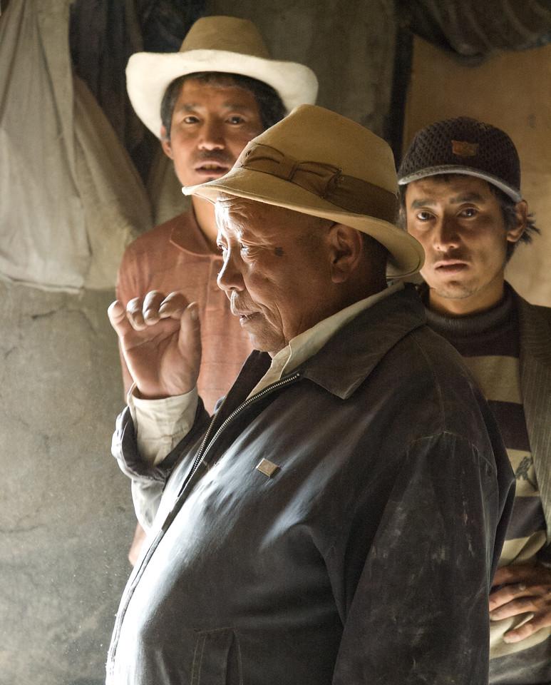 Flour mill workers, Tibet by Josephine Jardine