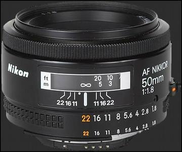 Nikkor 50mm 1.8 lens