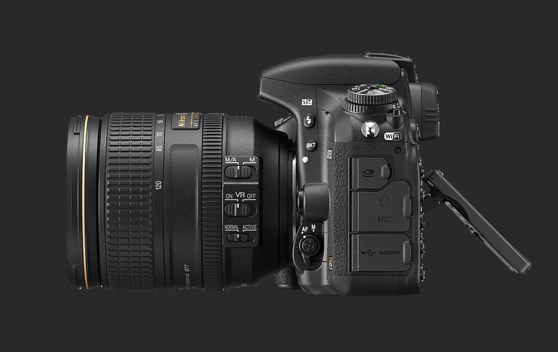 Nikon D750 Side Vew Showing Articulating Screen