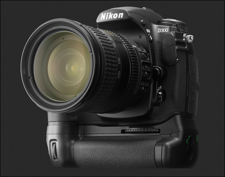 Nikon D300 with Battery Grip