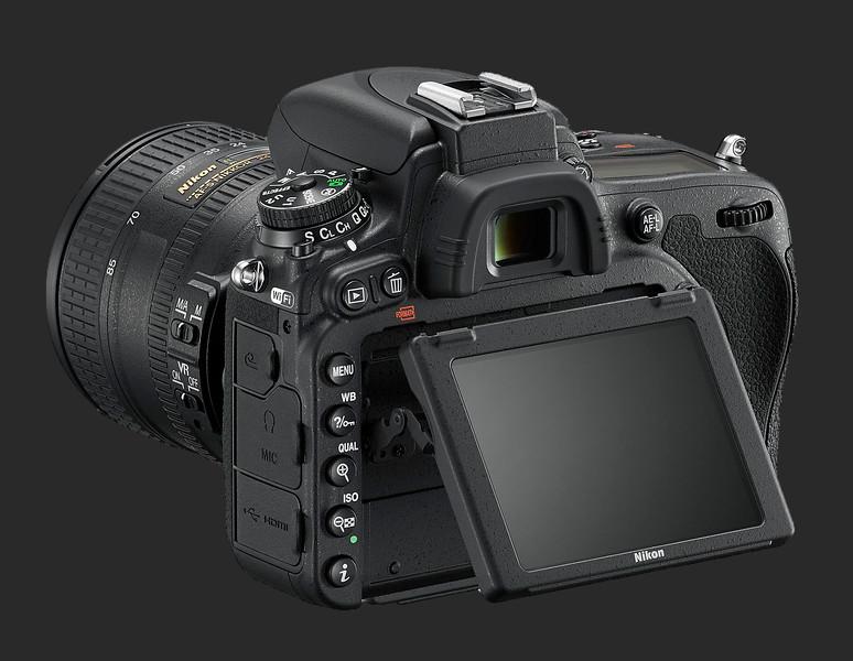 Nikon D750 Back View Showing Articulating Screen