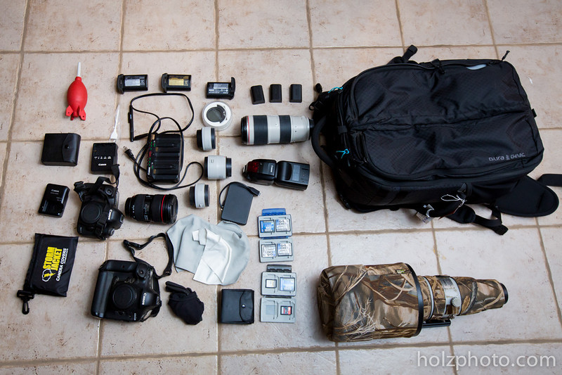 The Gura Gear Bataflae 32L and contents: