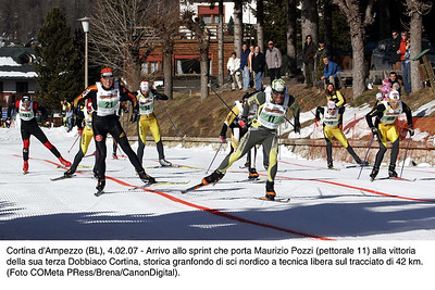 Maury Pozzi skis to victory in Cortina on the Go Fast Clap System