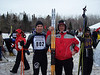 Chris Halverson, the first skier to ski the Birkie with the Clap binding and boot, with Joe Gollinger