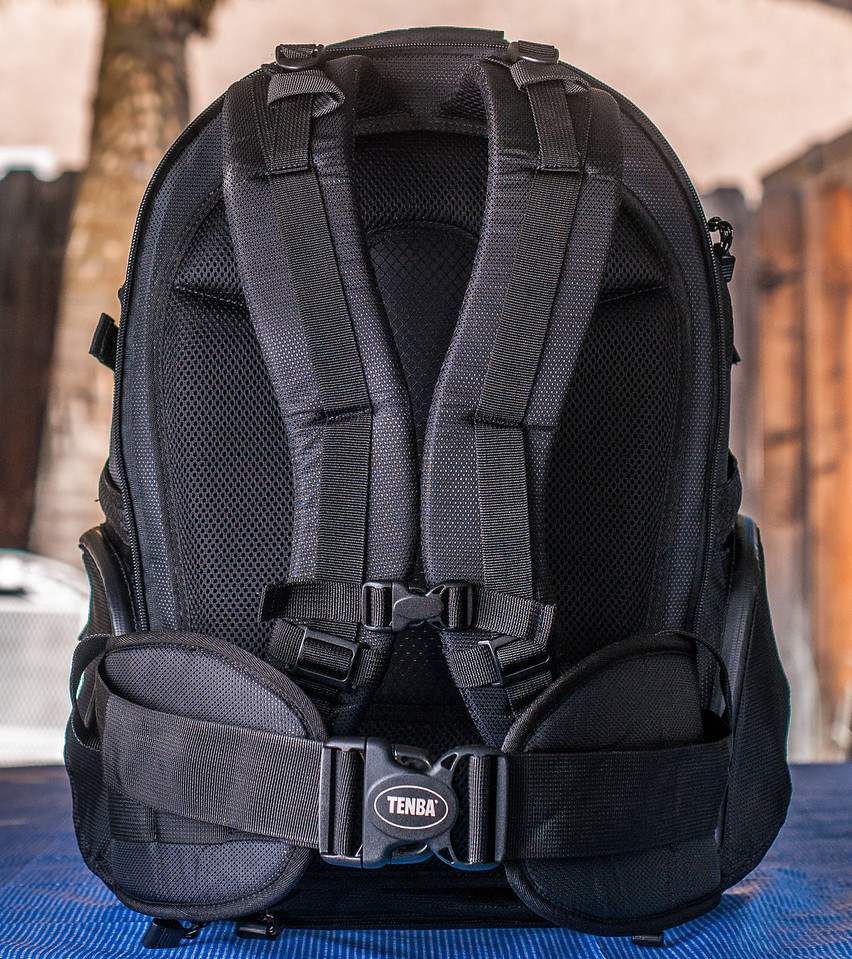 "<br><br><a href=""http://www.tenba.com/Products/Shootout-Backpack-Medium-Black.aspx"" target=""_blank"">Tenba Shootout Backpack, Medium Black <p>Back view of shoulder straps and removable waist belt. </p></a>"