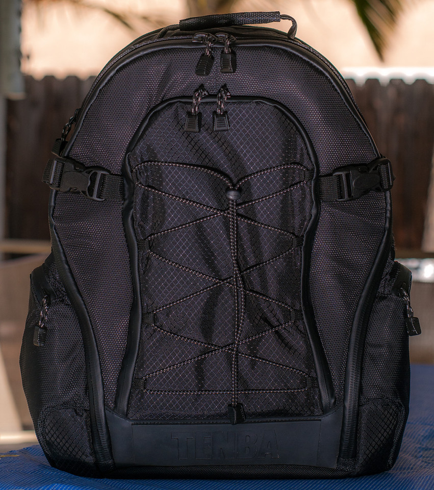 "<br><br><a href=""http://www.tenba.com/Products/Shootout-Backpack-Medium-Black.aspx"" target=""_blank"">Tenba Shootout Backpack, Medium Black <p>Front view of bag, all zippers closed.  </p></a>  ● Exterior Dementions: 15W X 18.5H X 12D in. (38 X 47 X 30 cm)  ●  Interior Dementions: 12W X 17H X 6D in. (30 X 43 X 15 cm)  ●  Weight: 6.2 lbs(2.8 kg)  ●  Model # 632-313  ●  List price $244 US"