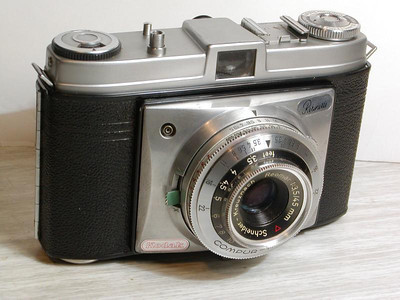 My first 'serious' camera [Kodak Retinette 1 model 030/9], a smashing little fixed (45mm) lens with a leaf shutter that was soooo much sharper than my Instamatic.  A hand-me-down from Dad when he bought his first slr (a Pentax Spotmatic F).  This camera really started teaching me about the nuts and bolts of camera settings with a separate hand-held Gossen light meter and how to estimate distance by eye to set the focus, unheard of these days.  Cost about  £19 (or £406 in 2017 terms).