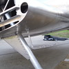Landing gear strut and gussets ... Pitot Tube to the right