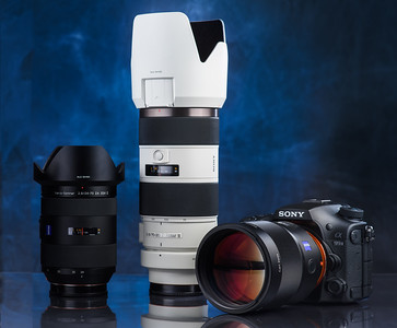 My main body, Carl Zeiss 135mm and 24-70 plus the Sony 'G' 70-200 form my 'dream kit bag'.