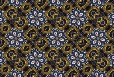 Steampunk Flower Pattern