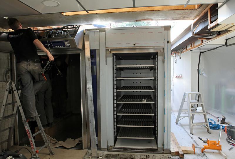 Installatie nieuwe oven bij Bakkerij D'Haen