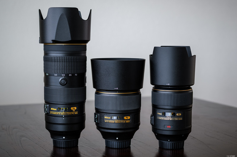 105mm f/1.4 vs. 70-200mm f/2.8 FL vs. 105mm f/2.8