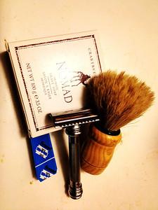 Nomad, Personna med prep, horsehair brush, Merkur