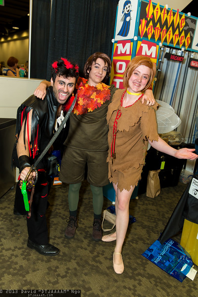 Rufio, Peter Pan, and Tinkerbell