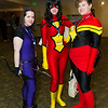 Hawkeye, Spider-Woman, and Captain Marvel