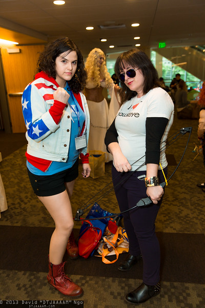 Miss America Chavez and Hawkeye