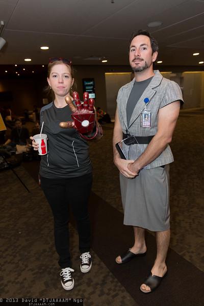 Tony Stark and Pepper Potts