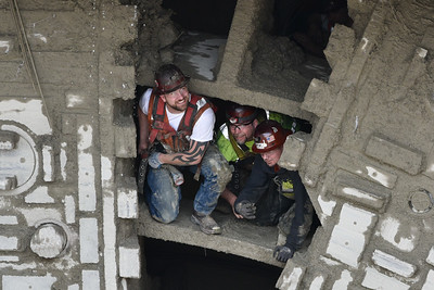 Bertha tunnel drilling machine emerges