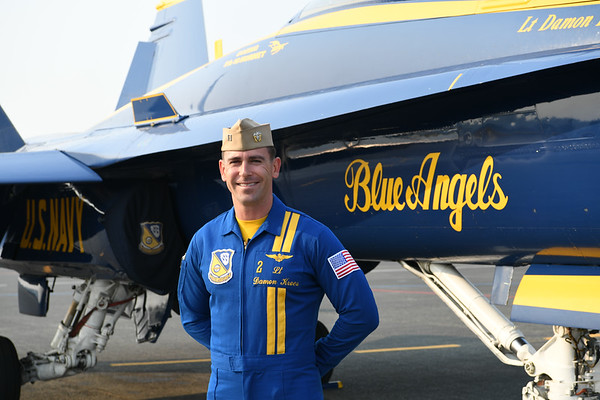 Blue Angels interview - Lt. Damon Kroes