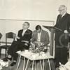 G1769 <br /> De opening van de chr. kleuterschool De Zonnebloem. V.l.n.r.: nb, dhr. Stolwijk, dhr. J. Fidder en wnd. burgemeester Vogelaar. Foto: 1959.