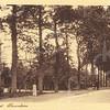 G0464 <br /> De villa links werd gebouwd in 1881 voor J. Kruijff, die het huis noemde naar zijn echtgenote Nella. De latere bewoner K. Klijn herdoopte de villa in 'Vredesteyn'. Tijdens de oorlogsjaren bouwden de Duitsers bunkers in de tuin. Het huis heeft jarenlang dienstgedaan als pension. Ook de fam. P. van Reisen heeft hier jarenlang gewoond. Thans heeft notaris Schrama het pand grondig laten restaureren. Foto: 1904?