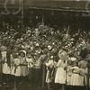 G1835 <br /> Het eeuwfeest 1813-1913, het onafhankelijkheidsfeest. Schoolkinderen op het feestterrein bij de Overplaats  Foto: 1913.