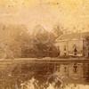 G0034 <br /> De achterzijde van Huis Ter Wegen. Er is een grote vijver aangelegd; deze is later volgestort met het puin van de afbraak van Ter Wegen. Foto: 1875.