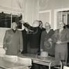 G1773 <br /> De opening van de nieuwe Openbare School (voorheen gebouw Concordia) op de hoek Hoofdstraat/Concordiastraat. V.l.n.r. dhr. G. Verschoor, burgemeester jhr. mr. R. Sandberg van Boelens, dhr. J. Wesseling en dhr. J. Stellingsma (hoofd der school). Foto: 1955.