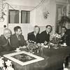 G1764 <br /> De opening van de Sociale Werkplaats door J.P. van Praag. Derde van links dhr. J. Schrama, rechts daarnaast dhr. Stolwijk. Foto: 1956.