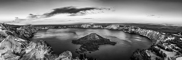 """Classic,"" Sunset over Crater Lake, Crater Lake National Park, Oregon"