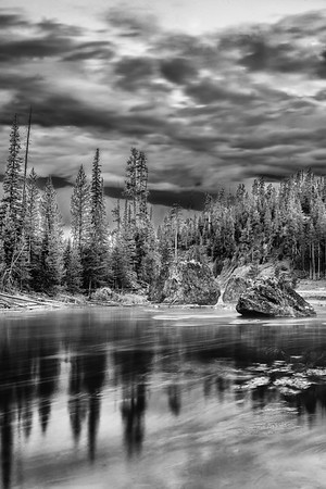 """""""Nature's Chaos,"""" Dawn over the Firehole River, Yellowstone National Park, Wyoming"""