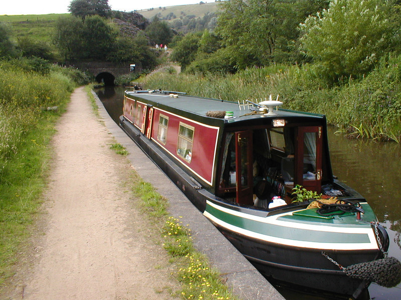 My boat the Alex Jane. About to tackle the Huddesfield and Rochdale canals.