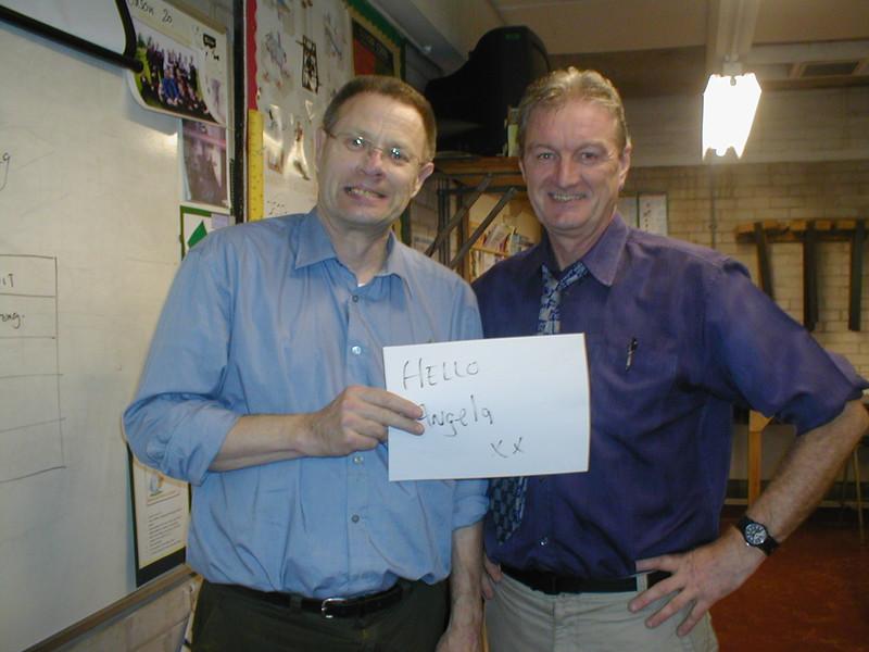 John and I.