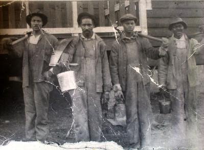"""""""Couter"""" White, George McGhee, Acie McGhee Sr., Unknown miner"""