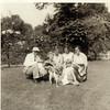Gerrit Douwsma, Mary Winston with dog, Doward Douwsma, Mary Douwsma, Ruth Douwsma1954 or 1955