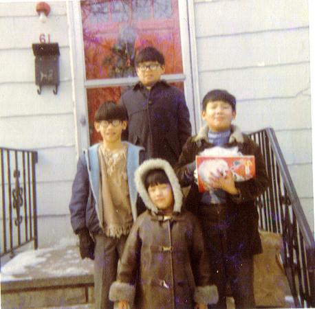 Jeff, Gordon, Andrew, PamDecember 1969