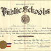 1923 - Clarence Voas 8th grade diploma