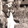 1943 or 1944 - With cat