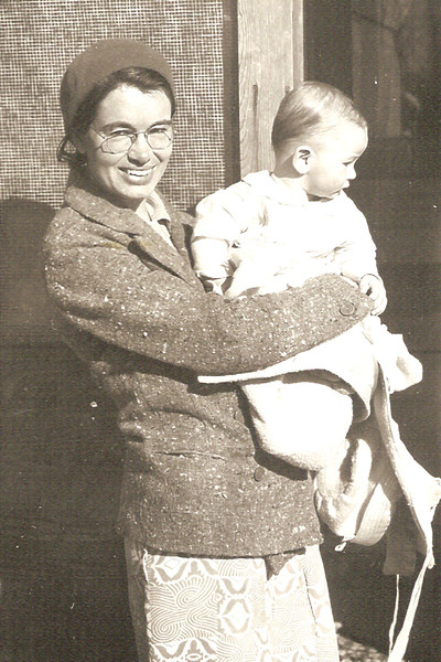 1940-07 - Baptism ? with Mom