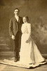 1900-03-14 - Frank & Pearl - wedding portrait