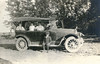 1921 - Fern & Pearl Voas - Dick on running board-age 12