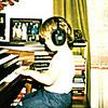 198x - Michael at Voas chord organ