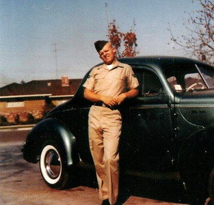 Airman Bob Britton and his 1940 Ford Coupe