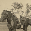 192x - June and Harold Pownell riding Foxy