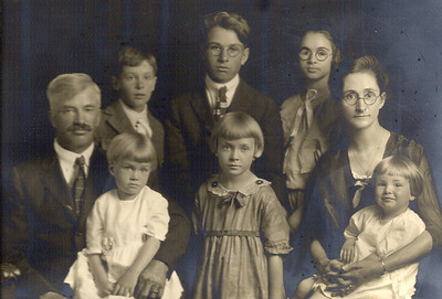 William Alfred & Adelia Blanche, and families