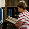 Carol Bosworth does research during the Fitchburg Public Library's genealogy program on Thursday, July 6, 2017. SENTINEL & ENTERPRISE / Ashley Green